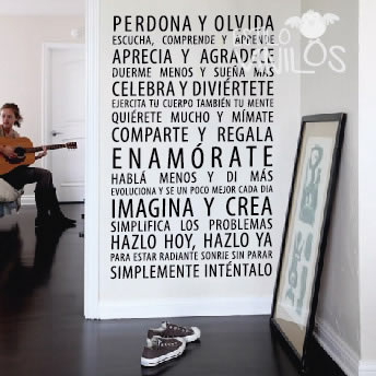 Frase perdona y olvida estilovinilos for Vinilos decorativos para habitaciones matrimoniales