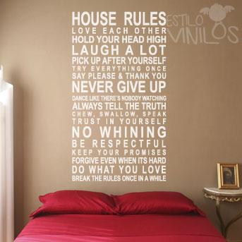 vinilo house rules
